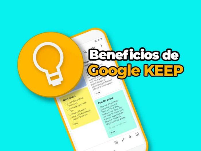 Beneficios de Google Keep