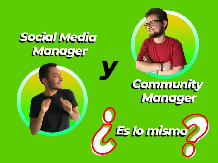 Social Media Manager y Community Manager son lo mismo
